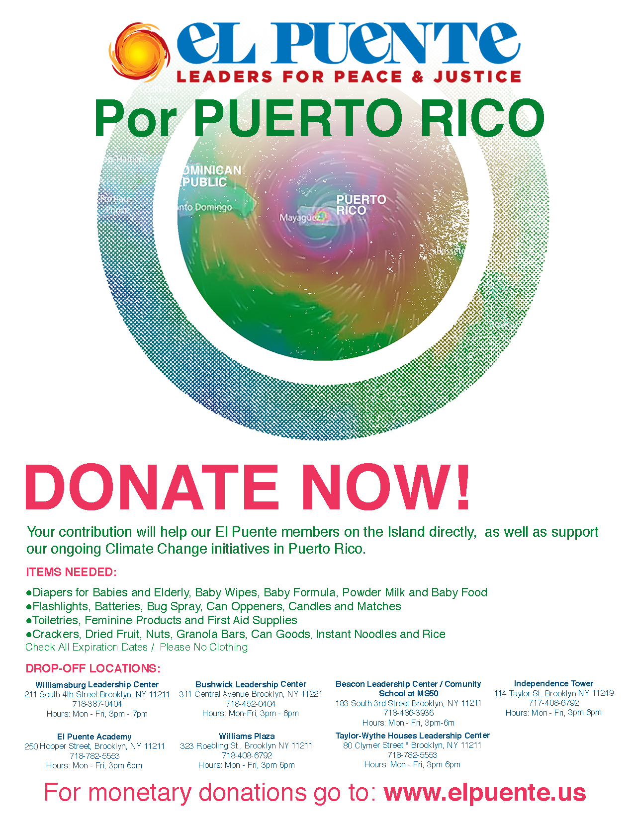 FLYER Donate MARIA